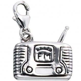 Einhänger Charm Radio 925 Sterling Silber rhodiniert
