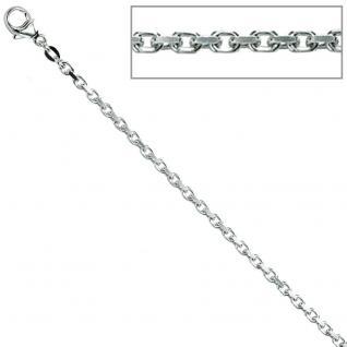 Ankerkette 925 Silber 2 mm 50 cm Halskette Kette Silberkette Karabiner