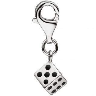 Einhänger Charm Würfel 925 Sterling Silber Anhänger für Bettelarmband