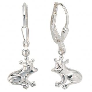 Kinder Boutons Frosch 925 Sterling Silber Ohrringe Ohrhänger Kinderohrringe
