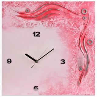 K Edition K1044 Limitierte Designer Wanduhr Quarz Handarbeit Unikat rosa pink