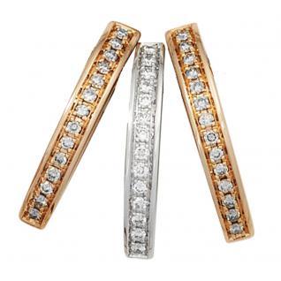 Anhänger 585 Gold Rotgold Weißgold bicolor 42 Diamanten Brillanten 0, 24ct.