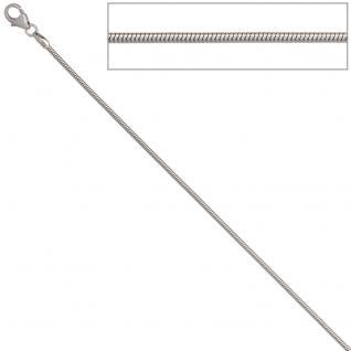 Schlangenkette 333 Weißgold 1, 4 mm 40 cm Gold Kette Halskette Weißgoldkette