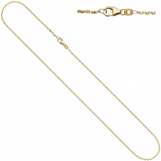 Ankerkette 585 Gelbgold diamantiert 1, 2 mm 38 cm Gold Kette Halskette Goldkette