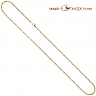 Panzerkette 585 Rotgold 2, 0 mm 50 cm Gold Kette Halskette Goldkette Karabiner