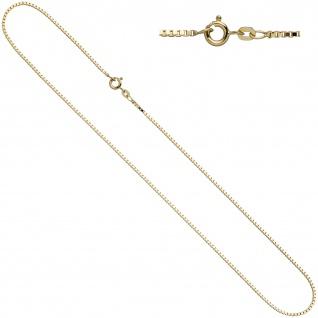 Venezianerkette 585 Gelbgold 1, 5 mm 42 cm Gold Kette Halskette Federring
