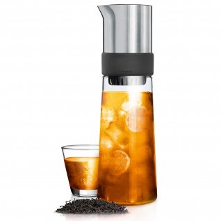 Blomus Eisteezubereiter TEA-JAY, Edelstahl matt mit Glas kombiniert, 800 ml