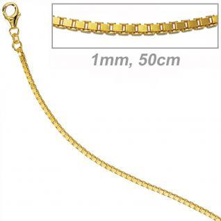 Zopfkette 333 Gelbgold 1, 6 mm 42 cm Gold Kette Halskette Goldkette Karabiner