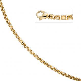 Erbskette 585 Gelbgold 7, 1 mm 45 cm Gold Kette Halskette Goldkette Karabiner