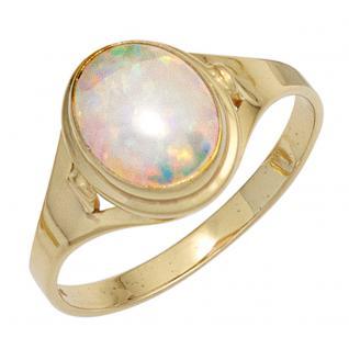 Damen Ring 333 Gold Gelbgold 1 Opal Goldring - 56
