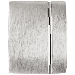 Medaillon eckig für 1 Foto 925 Sterling Silber matt mattiert Anhänger zum Öffnen