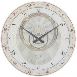 AMS 9232 Wanduhr ARISTOTELES Quarz analog rund mit Tierkreiszeichen Sternzeichen