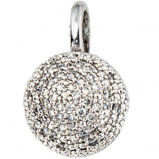 Anhänger 585 Gold Weißgold 50 Diamanten Brillanten 0, 25ct. Goldanhänger