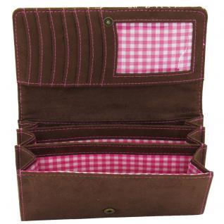 Friedrich Lederwaren Damen-Überschlagbörse BAVARIA braun rosa