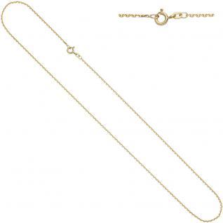 Ankerkette 585 Gelbgold 1, 2 mm 42 cm Gold Kette Halskette Goldkette Federring