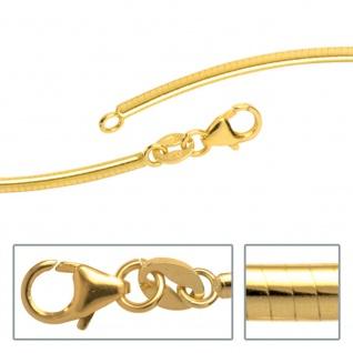 Halsreif 333 Gelbgold 2 mm 42 cm Gold Kette Halskette Goldhalsreif Karabiner
