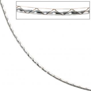Halskette Kette 585 Gold Weißgold 45 cm Goldkette Karabiner