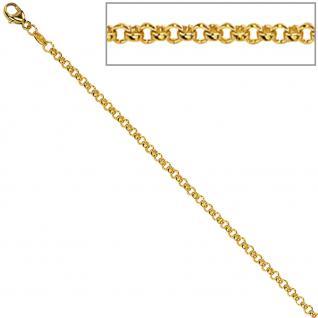 Zopfkette 585 Gelbgold 1, 6 mm 50 cm Gold Kette Halskette Goldkette Karabiner