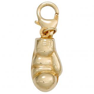 Einhänger Charm Boxhandschuh aus 333 Gold Gelbgold Goldcharm