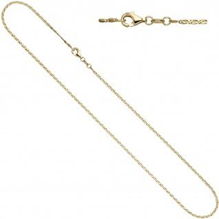 S-Panzerkette 333 Gelbgold diamantiert 1, 6 mm 38 cm Gold Halskette Goldkette