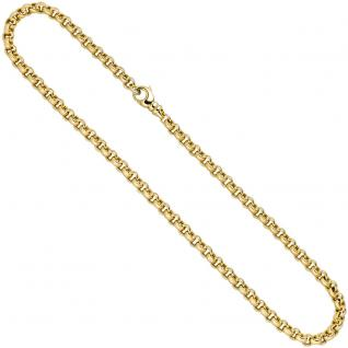 Erbskette 585 Gelbgold 6, 1 mm 45 cm Gold Kette Halskette Goldkette Karabiner