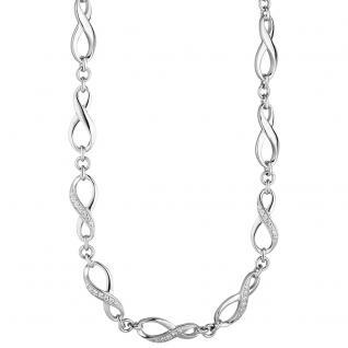 Collier Halskette Unendlich 925 Silber mit Zirkonia 48 cm Kette Silberkette