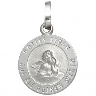 Kinder Anhänger Schutzengel 925 Silber mattiert Gottes Segen Kinderanhänger