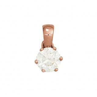 Anhänger 585 Gold Rotgold 1 Diamant Brillant 0, 25ct. Solitär Diamantanhänger