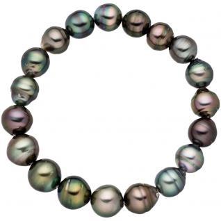 Armband mit Tahiti Perlen Perlenarmband endlos elastisch