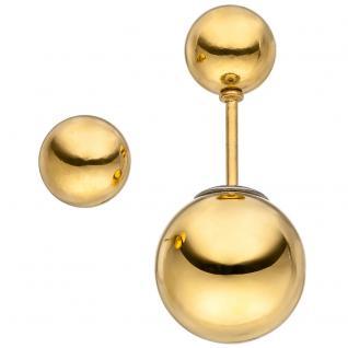 Ohrstecker Kugel Edelstahl gold farben beschichtet Kugelohrstecker doppelseitig