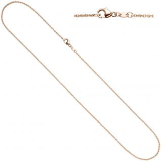 Ankerkette 333 Rotgold 1, 4 mm 50 cm Gold Halskette Kette Rotgoldkette Karabiner