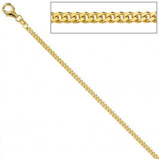 Panzerkette 333 Gelbgold diamantiert 1, 7 mm 42 cm Gold Kette Halskette Goldkette