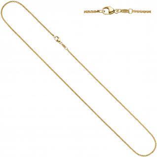 Erbskette 333 Gelbgold 1, 5 mm 42 cm Gold Kette Halskette Goldkette Karabiner