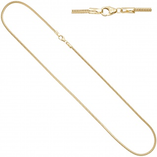 Schlangenkette aus 585 Gold Gelbgold 2, 4 mm 42 cm Kette Halskette Goldkette