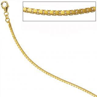 Venezianerkette 585 Gelbgold 2, 0 mm 80 cm Gold Kette Halskette Karabiner