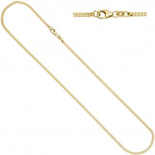 Panzerkette 333 Gelbgold diamantiert 1, 3 mm 38 cm Gold Kette Halskette Goldkette