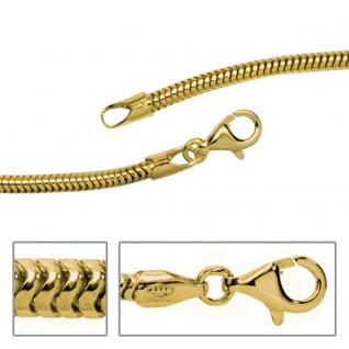 Schlangenkette 333 Gelbgold 2, 4 mm 70 cm Gold Kette Halskette Goldkette