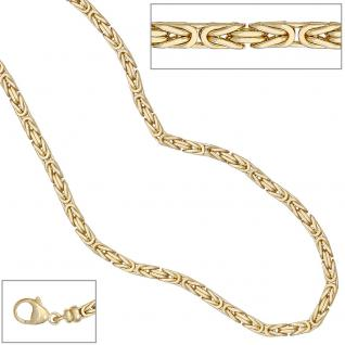 Königskette 585 Gelbgold 3, 2 mm 42 cm Gold Kette Halskette Goldkette Karabiner