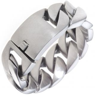 Armband Edelstahl mattiert 23, 5 cm Edelstahlarmband breit mit Kastenschloss
