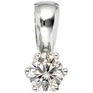 Anhänger 585 Gold Weißgold 1 Diamant Brillant 0, 50ct. Solitär Diamantanhänger