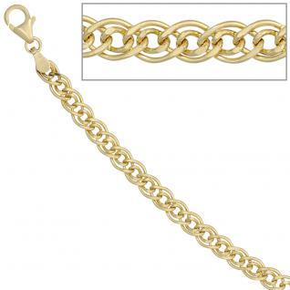 Zwillings-Panzerkette 585 Gelbgold 4, 8 mm 45 cm Gold Kette Halskette Goldkette