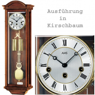 AMS 2672/9 Regulateur Regulator mit Pendel mechanisch Holz kirschbaum farben