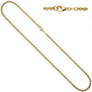 Erbskette 585 Gelbgold 3, 4 mm 80 cm Gold Kette Halskette Goldkette Karabiner