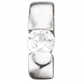 Einhänger Anhänger 925 Sterling Silber rhodiniert 1 Zirkonia