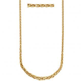 Zopfkette 585 Gelbgold mit Verlauf 45 cm Gold Halskette Kette Goldkette