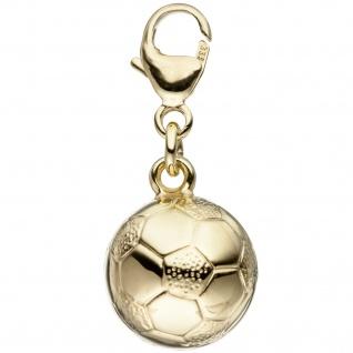 Einhänger Charm Fußball 333 Gold Gelbgold Anhänger Fußballcharm Goldcharm