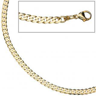Panzerkette 333 Gelbgold massiv 4, 9 mm 45 cm Gold Kette Halskette Goldkette
