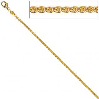 Zopfkette 333 Gelbgold 1, 6 mm 40 cm Gold Kette Halskette Goldkette Karabiner