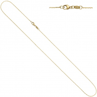 Ankerkette 585 Gelbgold diamantiert 0, 6 mm 42 cm Gold Kette Halskette Goldkette