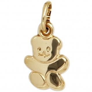 Kinder Anhänger Teddy 333 Gold Gelbgold Kinderanhänger